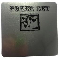 Jeu de poker - boite metal