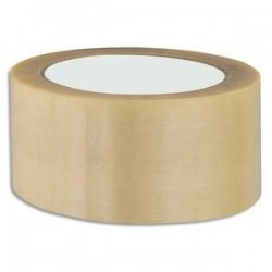 Ruban adhésif emballage PVC -1er prix - 50mmx66m - Transparent - 52 microns