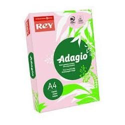 Papier couleur Rose - Rey - Adagio - 500 feuilles  A4 - 80g - Copieur, laser, jet encre