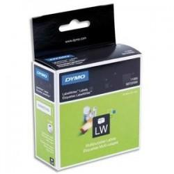 Rubans pour étiqueteuses - Dymo - 500 étiquettes -  51x19mm - blanches - repositionnables