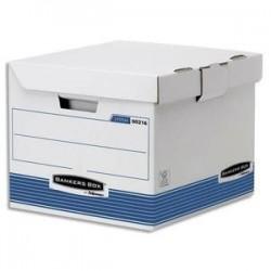 2 conteneurs cube SYSTEM - 35 x 28 x 35cm -Montage autom. BANKERS BOX