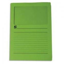 Paquet de 50 pochettes coins - A fenêtre - Carte 120g - 22x31cm - Vert foncé - 5ETOILES
