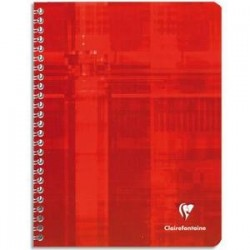 Cahier spirale - Metric - 100p - 24x32 - 90g - 5x5 - CLAIREFONTAINE