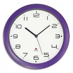 Horloge murale - Cadran ABS - Diam. 30cm - Prune - ALBA