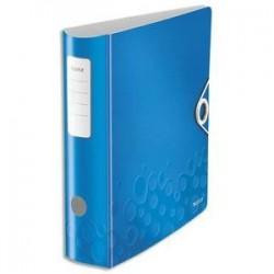 Classeur à levier WOW - Dos rond de 7,5cm -Polypro.-  31,8x31,4 - Bleu - LEITZ