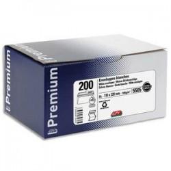 GPV Boîte de 200 enveloppes Blanches auto-adhésives 100g qualité+ format DL 110x220 mm 5505