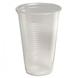 Sachet 100 gobelets - 20 cl - polystyrène transparent - HUHTAMAKI
