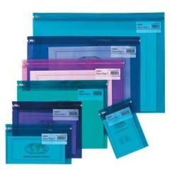 pochettes zippées - couleurs assorties