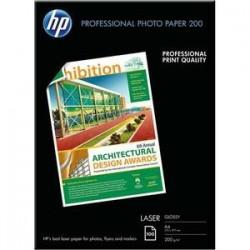 Paq. 100 pap, photo Laser - Brillant - A4 - 200g - HP