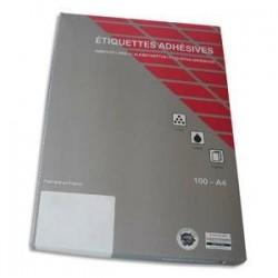 Boîte/2100 Etiq. Coul - 63.5X38.1mm  - Jaune -