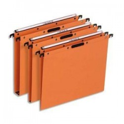 Bte/25 Dossiers susp - Tiroir - Fond 15cm - Orange -ELBA