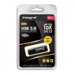 Clé USB 3.0 - 64GO - Noir - INTEGRAL