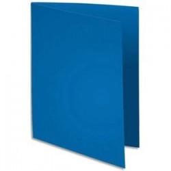 Paq/100 Chemises - 220g - Bleu - EXACOMPTA