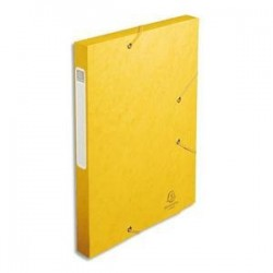 Chem/3 Rab+Elast - CARTOBOX - D2,5cm - Jaune -  EXACOMPTA