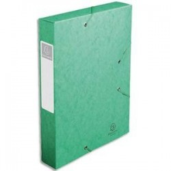 Chem/3 Rab+Elast - CARTOBOX - D6cm - Vert-  EXACOMPTA