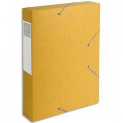 Chem/3 Rab+Elast - CARTOBOX - D6cm - Jaune -  EXACOMPTA