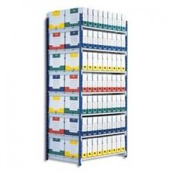 Rayonnage -Elément suivant - LxHxP 1x2x0,68m - 5 Tablettes - PAPERFLOW