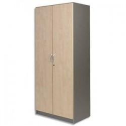 Armoire Haute - Alu/Erable - LxHxP 80x180x42cm - SIMMOB