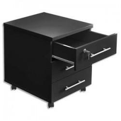 Caisson mobile - 3 tiroirs - MT3 ELEGANCE - Noir - MTI