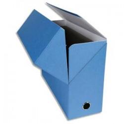 EXACOMPTA Boîte de transfert, carton rigide recouvert de papier toilé, dos 12 cm, 34x25,5 cm, bleu