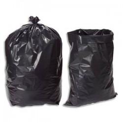 SACS POUBELLES Boîte de 100 sacs poubelle 100 litres noir pour gravats 140 microns