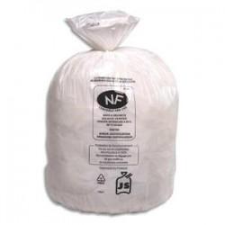 SACS POUBELLES Boîte de 500 Sacs-poubelles blancs top qualité 50 litres 22 microns