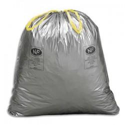 SACS POUBELLES Boîte de 100 Sacs-poubelles à liens coulissants standards 50 litres 28 microns