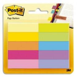 POST IT 50 Marque-pages Papier Post-it®. 10 couleurs.