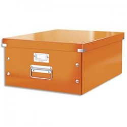 LEITZ Boîte CLICK&STORE L-Box. Format A3 - Dimensions : L36,9xH20xP48,2cm. Coloris orange.