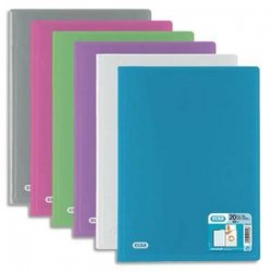 ELBA Protège documents HAWAI en polypropylène. 40 pochettes fixes A4 en PP 5/100. Coloris assortis
