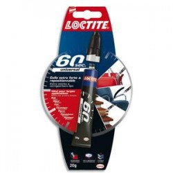 "LOCTITE 60"" Colle extra forte et repositionable idéale pour les larges applications 20gr 1978429"