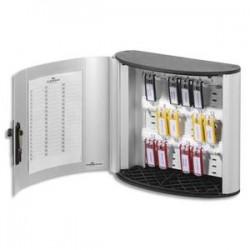 DURABLE Armoire à clés Key Box, capacité 18 clés - Dimensions :L30,2 x H28 x P11,8  cm coloris argent