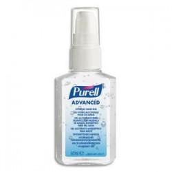 PURELL Flacon à pompe 60 ml Gel de poche hydro-alcoolique pour les mains
