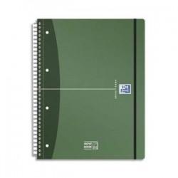 OXFORD Cahier spiralé Urban Mix MOVEBOOK A4+, 180 pages non perforées lignée 7mm. Couvertures PP