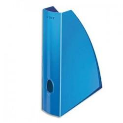 LEITZ Porte revues - WOW bleu métallisé - H31,2 x P25,8 cm - Dos 7,5 cm