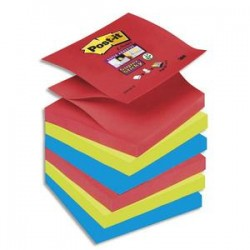 POST-IT Znotes SUPER STICKY collection Bora Bora 90 feuilles 76X76mm