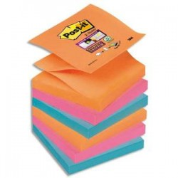 POST-IT Znotes SUPER STICKY collection Bangkok 90 feuilles 76X76mm
