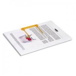 BANKERS BOX Boite de 100 clip tube jaune 3 pieces pour archiver et consulter les documents