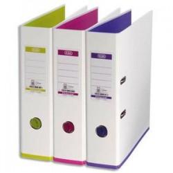 ELBA Classeur à levier MyCoulour recouvert de polypro dos 80mm coloris blanc et renforts en pp assortis