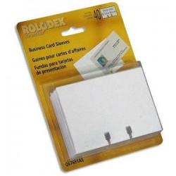 ROLODEX Lot de 40 pochettes Transparentes Fichier - Dimensions : H6,7 x L10,2 cm