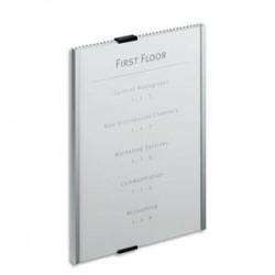 DURABLE Plaque de porte alu façade amovible transparente format A5 Infosign
