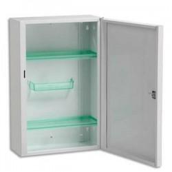 ROSSIGNOL Armoire à pharmacie acier fermeture à clef, 2 étagères 1 blaconnet L31 x H45,5 x P14,5 cm blanc