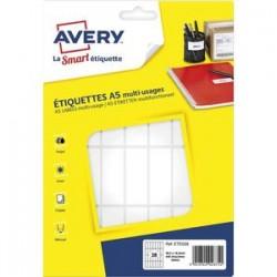 AVERY Sachet de 448 étiquettes multi-usage blanches 48,5 x 18,5 mm. Planche format A5. ETE028