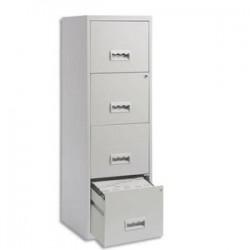 PIERRE HENRY Maxi Classeur pour dossiers suspendus 4 tiroirs - Dimensions : L40 x H126 x P40 cm gris