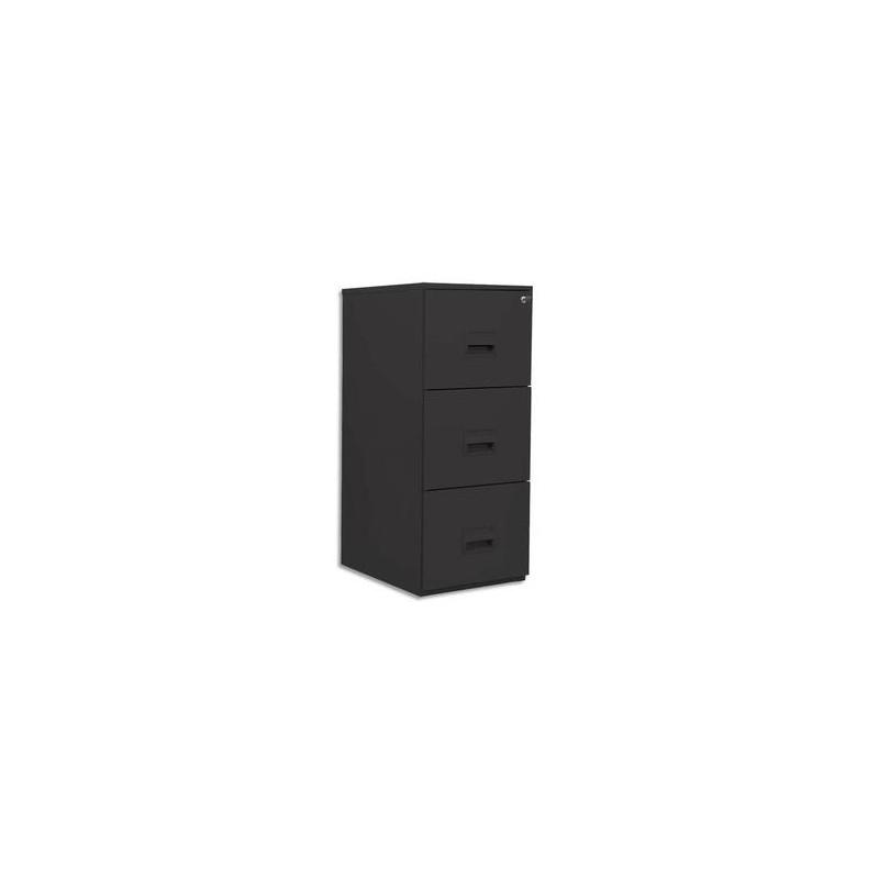 PIERRE HENRY Classeur pour dossiers suspendus 3 tiroirs - Dimensions : L41,8 x H99,2 x P54,1 cm noir