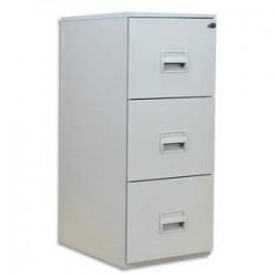 PIERRE HENRY Classeur pour dossiers suspendus 3 tiroirs - Dimensions : L41,8 x H99,2 x P54,1 cm gris