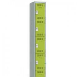 VINCO Vestiaire 4 Cases + 1 Colonne - Dimensions : L30 x H180 x P50 cm gris perle anis