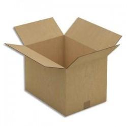 EMBALLAGE Paquet de 10 Caisses américaines double cannelure en kraft brun - Dimensions : 43 x 30 x 31 cm