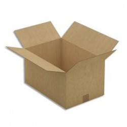 EMBALLAGE Paquet de 25 Caisses américaines simple cannelure en kraft brun - Dimensions : 45 x 24 x 30 cm