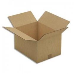 EMBALLAGE Paquet de 15 Caisses américaines double cannelure en kraft brun - Dimensions : 41 x 24 x 31 cm